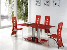 Red dining table set Dining Chairs Furniture Italia Jet Red Glass Dining Table Dining Table And Chairs Dining Tables