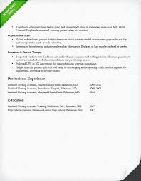 Therapy Technician Resume Certified Home Health Aide Sample Resume