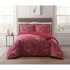 style 212 bedford red twin xl comforter set cs1900rdtx 1500 the home depot