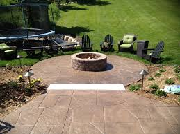 Brilliant Stamped Concrete Patio With Fire Pit T For Ideas