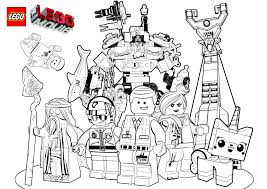 Impressive Lego Movie Coloring Pages New Coloring Printable Of