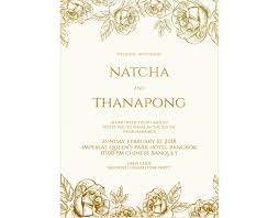 Wedding Invitation Made To Order M008 New Arrival