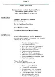 Resume Registered Nurse Examples Sample Registered Nurse Resume