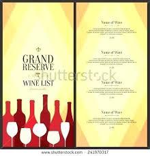 Free Wine List Template Download Wine List Template Design Vector Brochure 273440450074 Free Wine