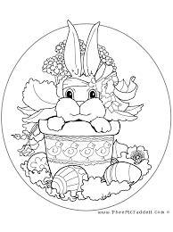 Small Picture Easter Bunny Oval Coloring Page