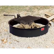 latest steel fire pit insert awesome ring with cooking