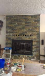 painting fireplace bricks done