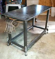 welding table designs welding table with leveling feet more diy welding table designs