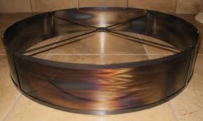 custom torched metal shade