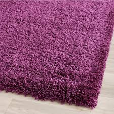 safavieh california shag purple rectangular indoor machine made area rug common 4 x california shag black 4 ft