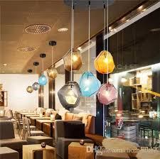 globe colored stone bubble chandelier glass suspension hanging pendant light clear new modern home bar coffee house lighting pendant lighting fixtures