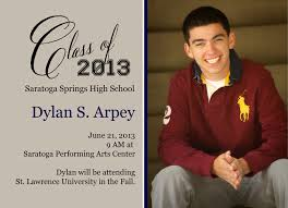 High School Graduation Announcement Saratoga Springs High School Senior Portrait Photography
