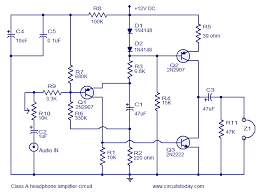 transistor amplifier circuits head phone amplifier