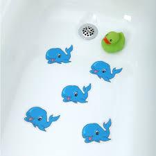 whale tread applique in tub