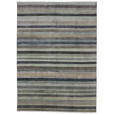 Striped area rug Navy Blue New Transitional Striped Area Rug With Neutral Nauticalcoastal Style For Sale 1stdibs New Transitional Striped Area Rug With Neutral Nauticalcoastal