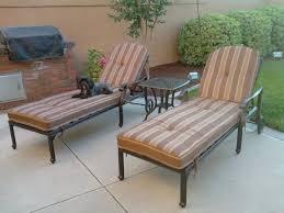palm tree outdoor patio set 3pc set seating chaise lounges dark bronze cast aluminum sesame cushions