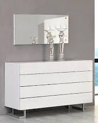 modern white dresser and mirror made in italy bw