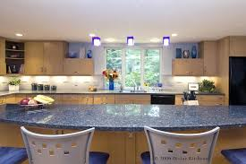 oak cabinets and blue green kitchen countertops stone what