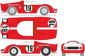 Blueprints Cars Ferrari Ferrari 365p2 Scuderia Filipinetti Le Mans 1966
