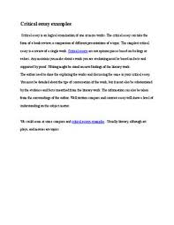 critical essay samples critical essay examples by martin wright issuu