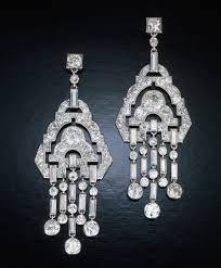 chandelier earrings art deco style bridal crystal the classic chandelier earring gets a modern makeover