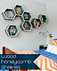 double up also the beauty of your interior walls with precious geometrical décor statements that will come from these honeycomb shelves time to add beauty