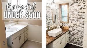 Bathroom Remodel Under 500 Youtube