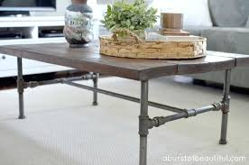 diy coffee table legs rustic pipe coffee table pipes diy wood coffee table with pipe legs