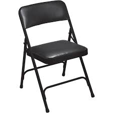 vinyl folding chairs. National Public Seating 4-Pack Indoor Steel Black Banquet Folding Chairs Vinyl U