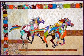 Horse Quilt Pattern Classy Japanese Horse Quilt For Chelsea Complete Feeling Simply Quilty