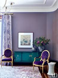 Radiant Orchid Living Room. Interior Design: Suzy Q Better Decorating Bible  Blog Ideas Library Office Home Purple Violet Walls