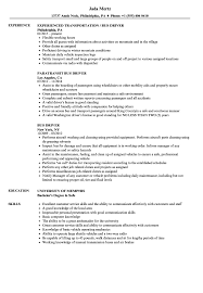 Cv For Driver Job Bus Driver Resume Samples Velvet Jobs