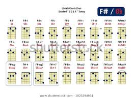 Ukulele Chord Chart Standard Tuning Ukulele Stock Vector