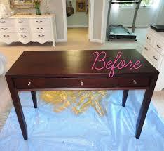 painted furniture makeover gold metallic. DIY Thrift Store Desk Makeover (Using Silver Leaf!) Painted Furniture Gold Metallic U