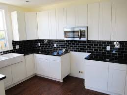Black And White Kitchen Tiles Cleanly Laminate Floor Mied With White Kitchen Also Beige Subway