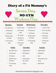 home exercise plan to lose weight best of best 25 7 day workout ideas on