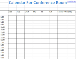 Excel Room Booking Template Conference Room Scheduling Calendar