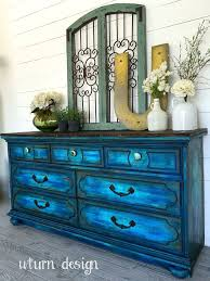 recreate furniture. colbalt blue with turquoise dresser by uturn design recreate furniture
