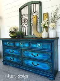 recreate furniture. colbalt blue with turquoise dresser by uturn design recreate furniture