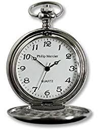 amazon co uk philip mercier watches philip mercier pocket watch and chain comes in gift box