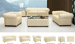 Ivory Living Room Furniture 258 Leather Living Room Set In Ivory Free Shipping Get Furniture