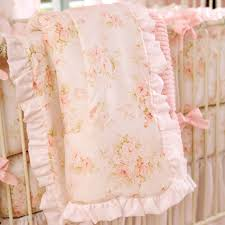 shabby chenille crib bedding pink fl baby girl carousel designs creative office design designer