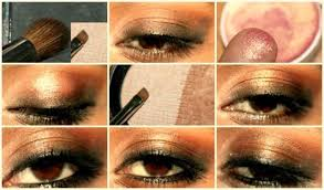 eye heavy kohl bronze eyes makeup