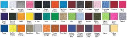 Jerzees Color Chart J29m Jerzees Blended Tee