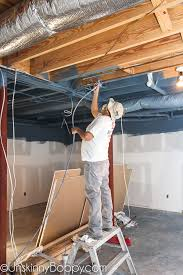 he sprayed the entire ceiling in just one day using his big industrial sprayer