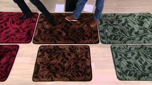 don aslett s tonal patterned microfiber indoor mat on qvc you