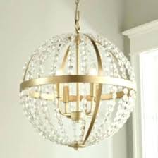 large globe chandelier gold orb crystal and plans metal 4 light stella chandeli