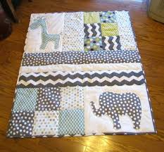 Modern Baby Quilt Modern Toddler Quilt Handmade Crib Quilt Baby ... & ... Monkey Baby Quilts Etsy Handmade Baby Quilt With Elephant And Giraffe  Applique 12000 Via Etsy Baby ... Adamdwight.com
