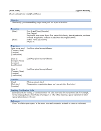 Resume Word Template Resume For Study Microsoft Mac J Resumes