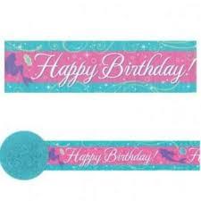The Little Mermaid Ariel Crepe Streamer Happy Birthday
